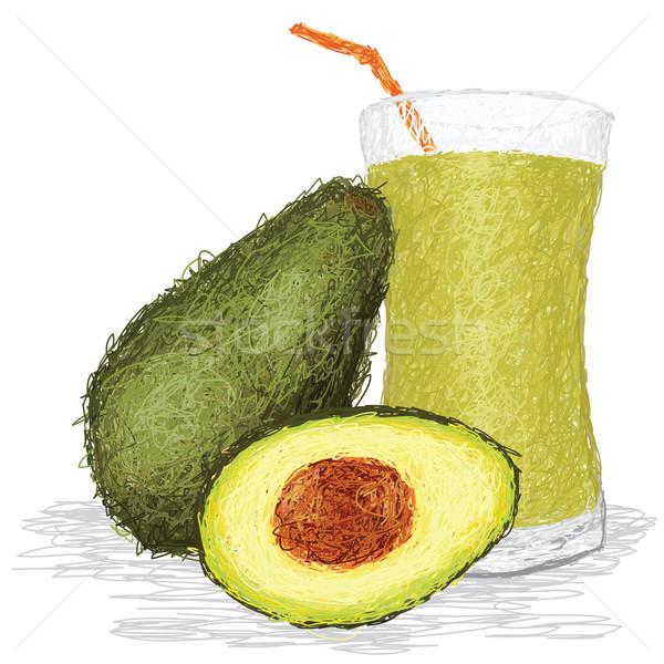 Avokado meyve suyu örnek taze meyve Stok fotoğraf © jomaplaon