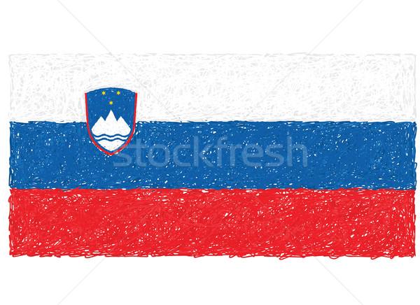 Bayrak Slovenya örnek arka plan ülke Stok fotoğraf © jomaplaon