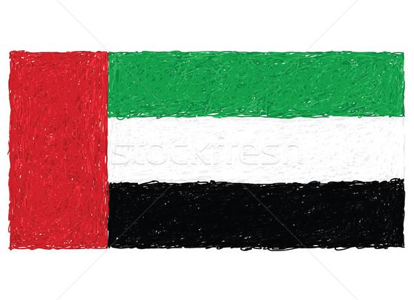 Bayrak Birleşik Arap Emirlikleri örnek ülke Asya Stok fotoğraf © jomaplaon