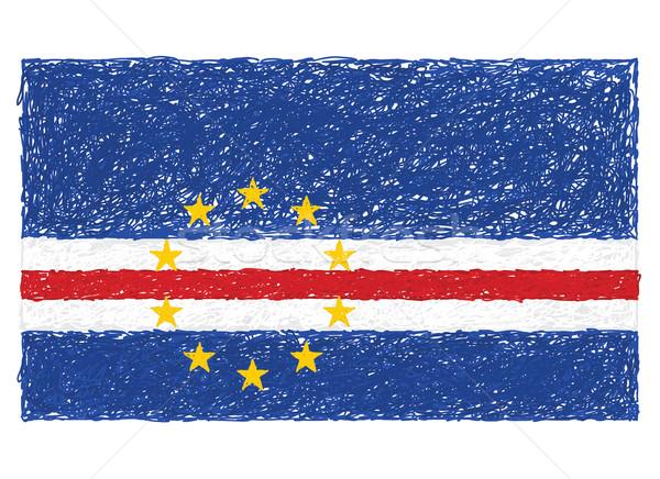 Bayrak örnek imzalamak Afrika ada Stok fotoğraf © jomaplaon