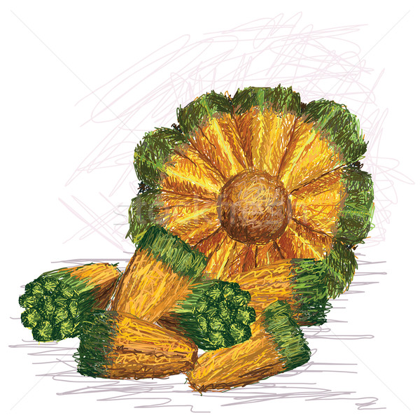 Meyve çekirdek örnek açmak yalıtılmış Stok fotoğraf © jomaplaon
