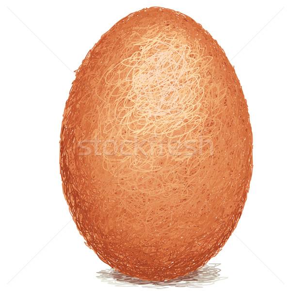 örnek kahverengi tavuk yumurta Stok fotoğraf © jomaplaon