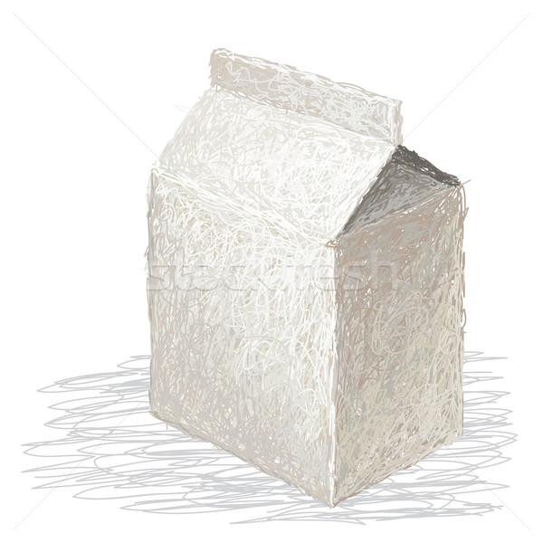Süt kutu örnek taze süt kâğıt Stok fotoğraf © jomaplaon
