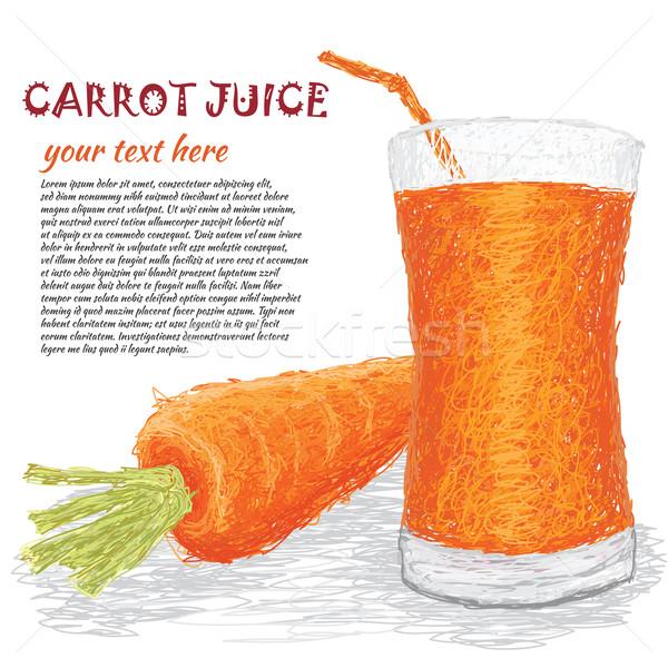 Zanahoria vegetales jugo primer plano ilustración frescos Foto stock © jomaplaon