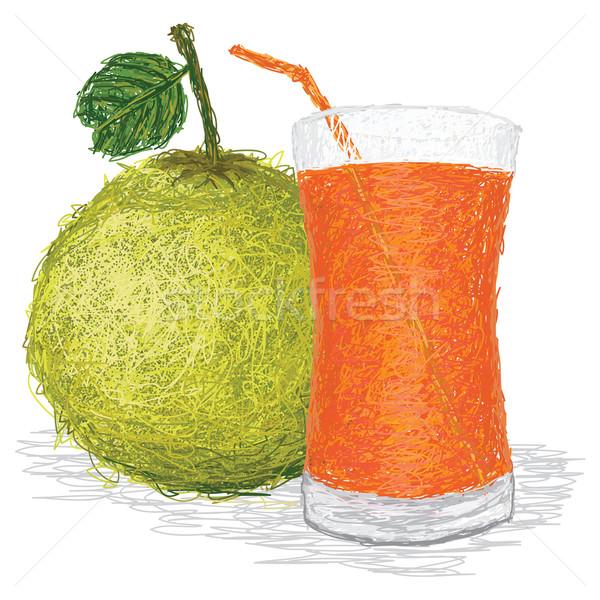 Meyve suyu örnek taze meyve cam Stok fotoğraf © jomaplaon