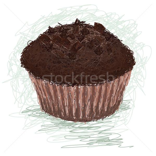 örnek çikolata çörek fincan kek Stok fotoğraf © jomaplaon