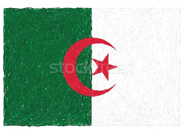 Bandeira Argélia ilustração África preto Foto stock © jomaplaon