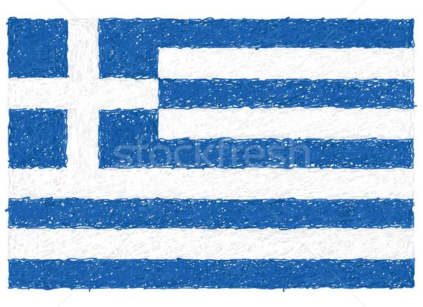 Bayrak Yunanistan örnek doku çapraz Stok fotoğraf © jomaplaon