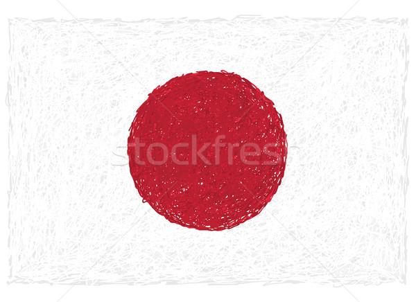 Foto d'archivio: Bandiera · Giappone · illustrazione · bianco · japanese