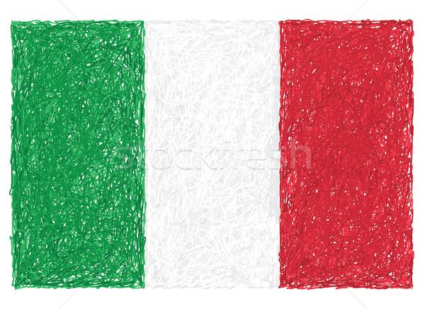 Bayrak İtalya örnek dizayn kırmızı Stok fotoğraf © jomaplaon