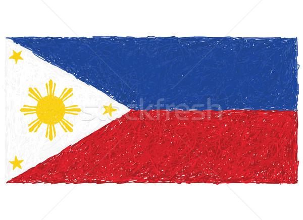 Bayrak örnek beyaz doku özgürlük Stok fotoğraf © jomaplaon