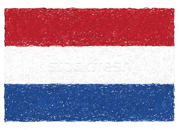 Bayrak Hollanda örnek kırmızı beyaz Stok fotoğraf © jomaplaon