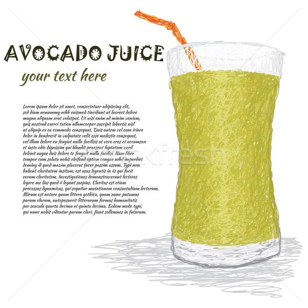 Avokado meyve suyu örnek taze cam Stok fotoğraf © jomaplaon