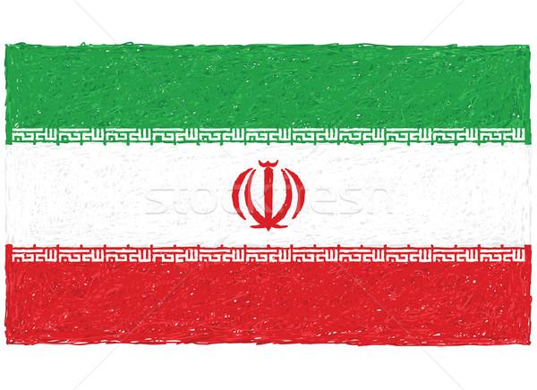 Bayrak İran örnek arka plan ülke Stok fotoğraf © jomaplaon