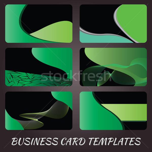 Yeşil örnek kartvizit tasarım şablonu doku soyut Stok fotoğraf © jomaplaon