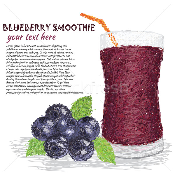 blueberry smoothie Stock photo © jomaplaon