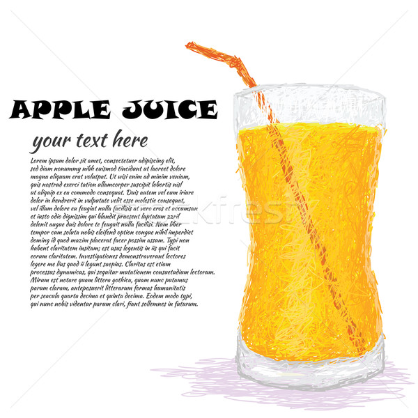 Appelsap illustratie vers glas drinken Stockfoto © jomaplaon