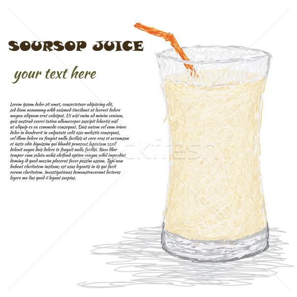 Meyve suyu örnek cam taze içmek Stok fotoğraf © jomaplaon