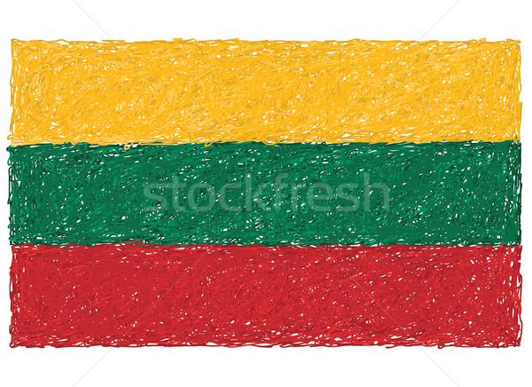 Bayrak Litvanya örnek arka plan imzalamak Stok fotoğraf © jomaplaon
