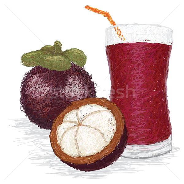 mangosteen fruit juice Stock photo © jomaplaon