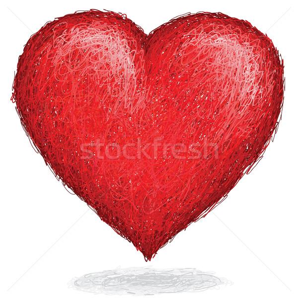 Kalp artistik kroki dev zarif Stok fotoğraf © jomaplaon