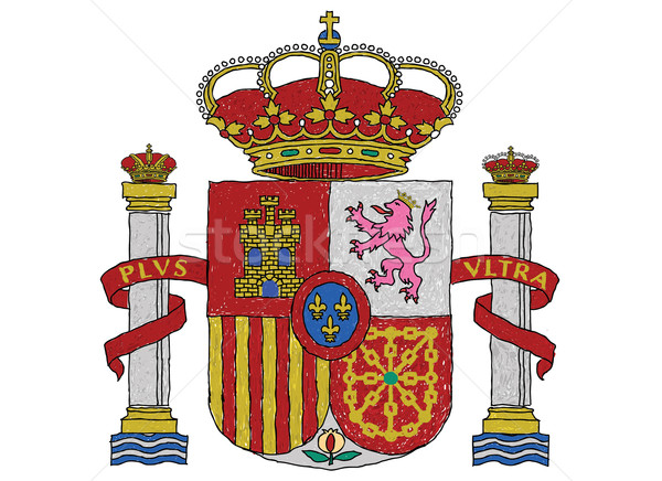 Foto d'archivio: Spagna · cappotto · braccia · illustrazione · bandiera