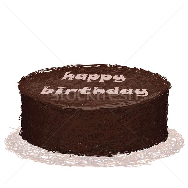 örnek çikolata doğum günü pastası doğum günü Stok fotoğraf © jomaplaon