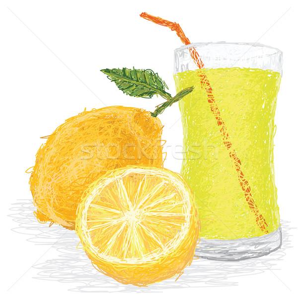 Limon meyve suyu örnek taze yalıtılmış Stok fotoğraf © jomaplaon