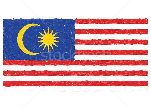 Bayrak Malezya örnek doku dizayn Stok fotoğraf © jomaplaon