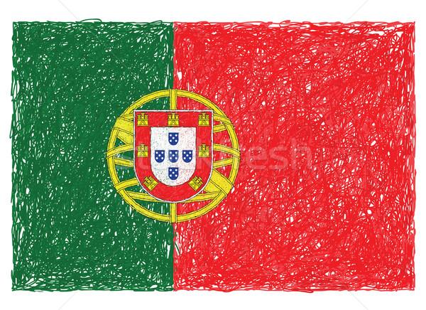 Bayrak Portekiz örnek arka plan özgürlük Stok fotoğraf © jomaplaon