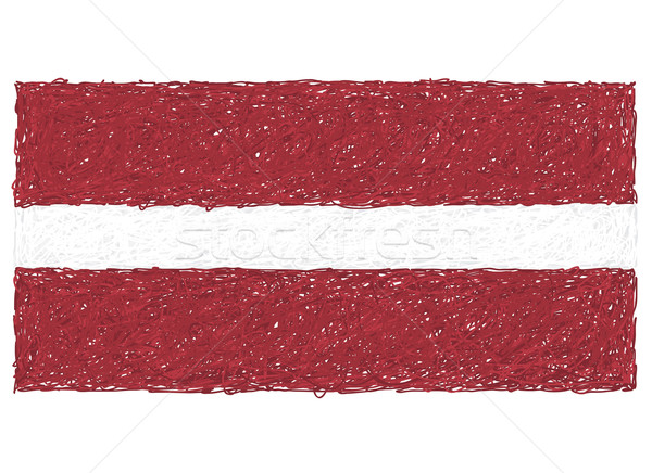 Vlag Letland illustratie vrijheid witte Stockfoto © jomaplaon