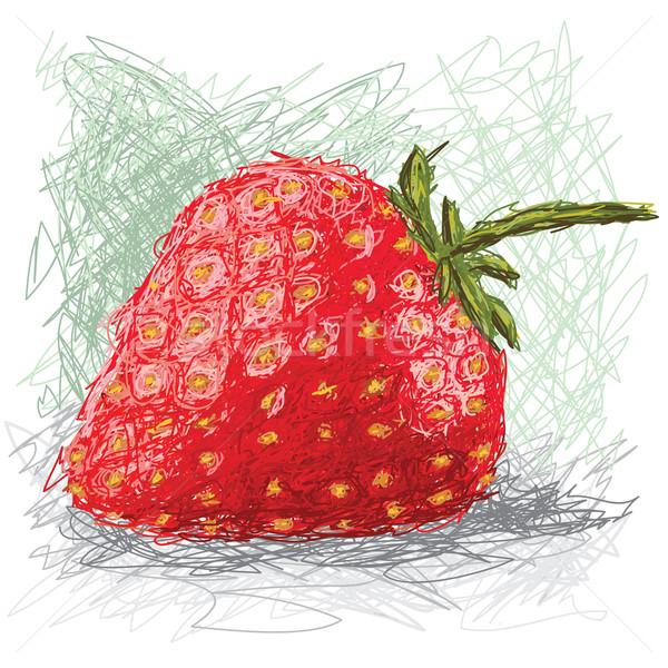 çilek örnek taze meyve karikatür Stok fotoğraf © jomaplaon
