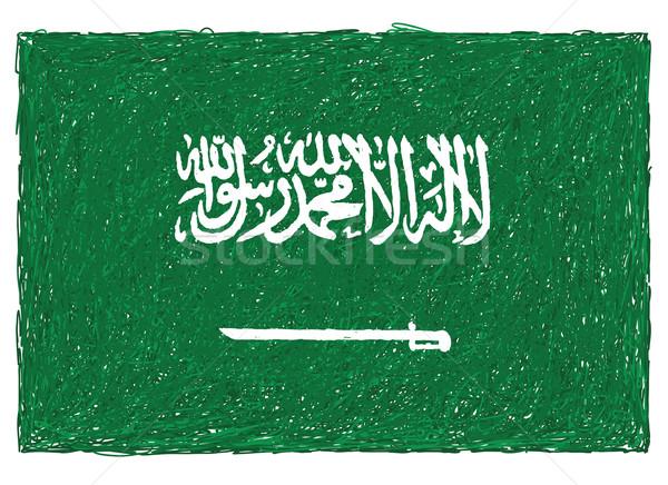 flag of saudi arabia Stock photo © jomaplaon