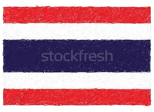 Bayrak Tayland örnek Asya grafik Stok fotoğraf © jomaplaon