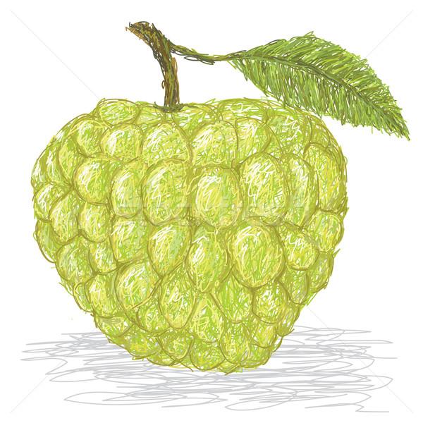 örnek taze krema elma yalıtılmış Stok fotoğraf © jomaplaon