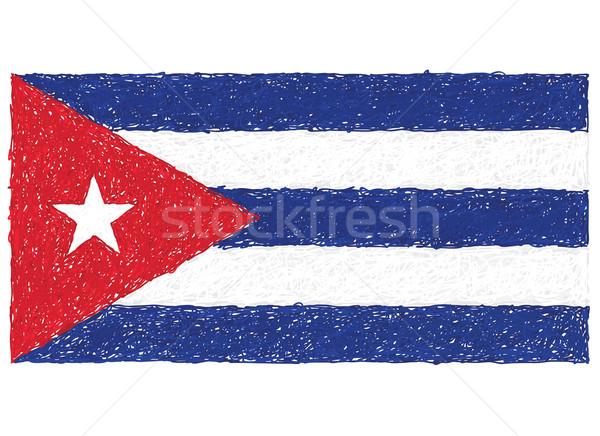 Bayrak Küba örnek doku dizayn Stok fotoğraf © jomaplaon