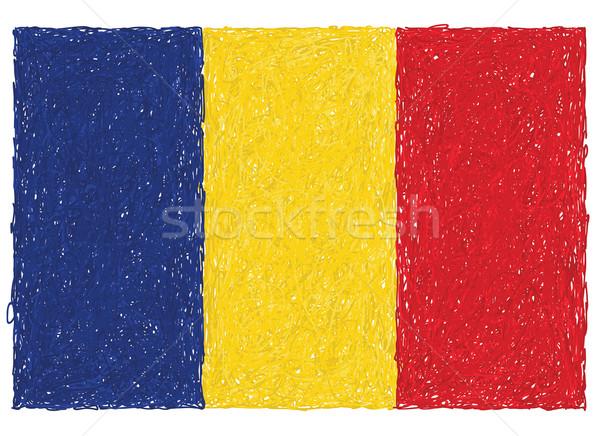 Bayrak Romanya örnek kırmızı ülke Stok fotoğraf © jomaplaon