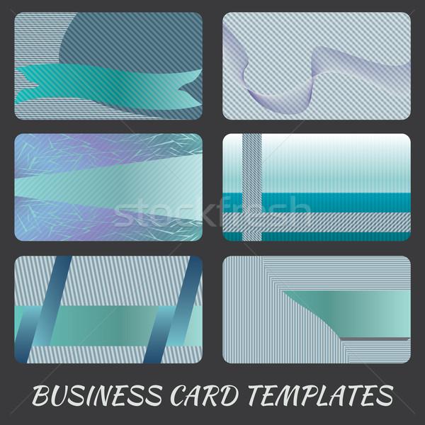 Açık mavi örnek kartvizit tasarım şablonu dizayn telefon Stok fotoğraf © jomaplaon