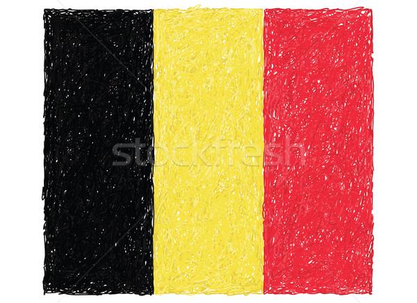 Bayrak Belçika örnek doku kırmızı Stok fotoğraf © jomaplaon