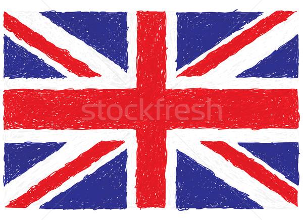 Büyük Britanya bayrak örnek soyut dizayn Stok fotoğraf © jomaplaon