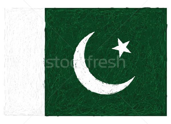 Vlag Pakistan illustratie ontwerp achtergrond Stockfoto © jomaplaon