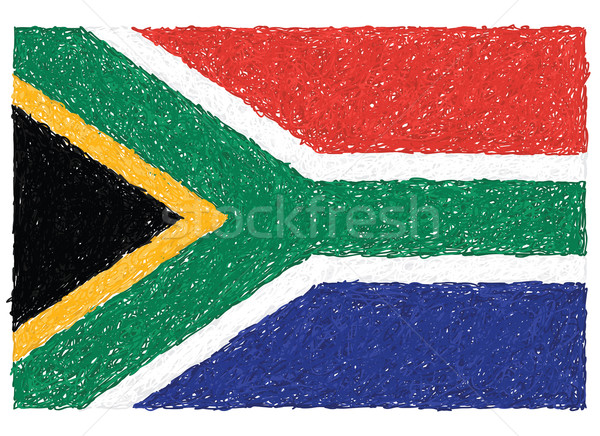 flag of south africa Stock photo © jomaplaon