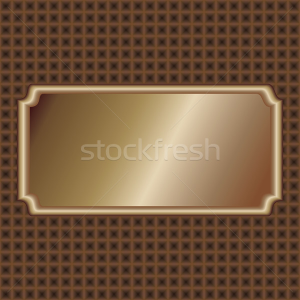 örnek bronz etiket karanlık kahverengi kare Stok fotoğraf © jomaplaon