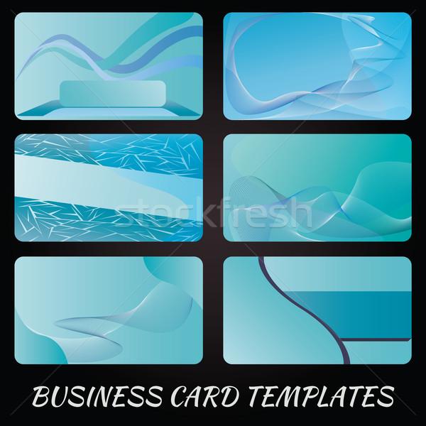Mavi örnek kartvizit tasarım şablonu dizayn telefon Stok fotoğraf © jomaplaon