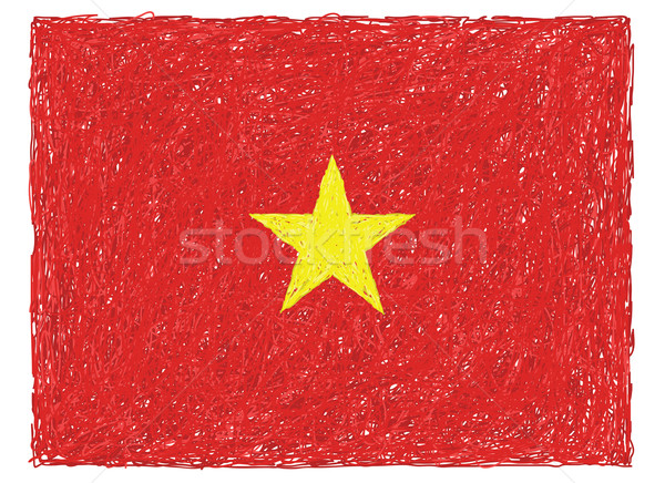 Bandeira Vietnã ilustração textura fundo Foto stock © jomaplaon