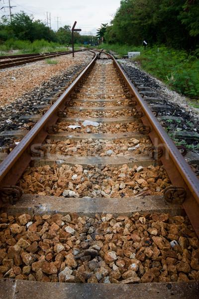 Ferrovia transporte matéria-prima Tailândia estrada paisagem Foto stock © jomphong