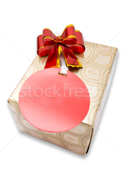 A gold gift box isolated Stock photo © jomphong