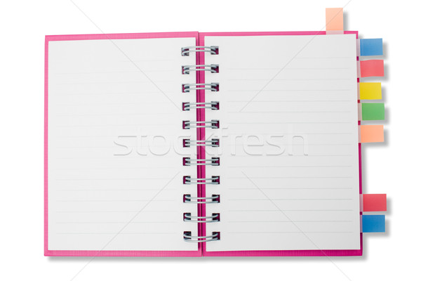 Blank page notebook and tag for separate_1 Stock photo © jomphong