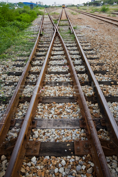 The railway shunt  for transport raw material at Rayong Thailand Stock photo © jomphong