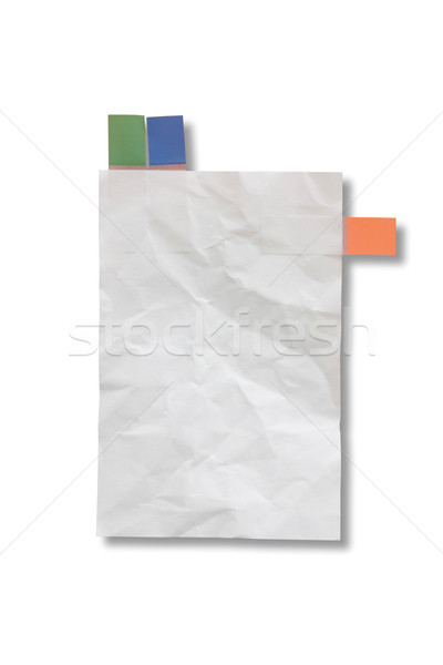 Stock photo: Mini blank page white paper and tag for note something and attac